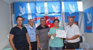 Demoktatik Sol Parti (DSP) Mustafakemalpaşa Kadın Kolları Başkanı Filiz Kolu
