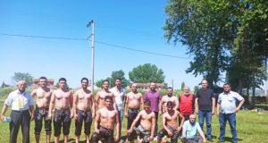 Güreşçiler Çalı'da ter döktü